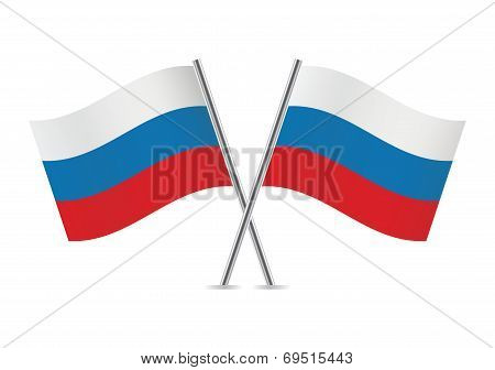 Russian flags. Vector illustration.