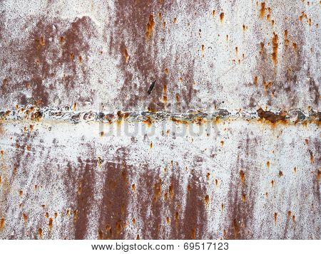 Rusty metal welding seam