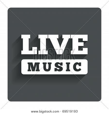 Live music sign icon. Karaoke symbol.