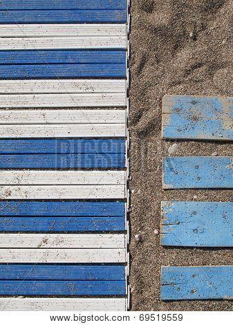 Beach Plastic Path And Planks