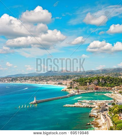 View Of Nice City, French Riviera, France