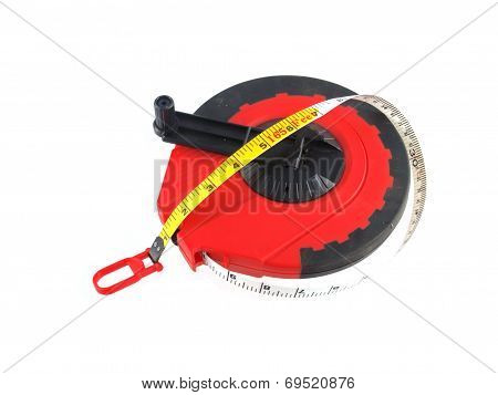 Close Up Photo Of A Yellow Tape Measure.