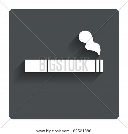 Smoking sign icon. Cigarette symbol.