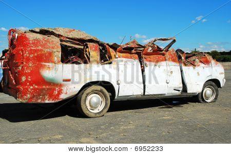 smashed car 1