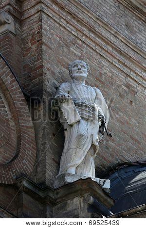 PARMA, ITALY - MAY 01, 2014: Saint Peter. Basilica Santa Maria della Steccata. Basilica is a Marian shrine made in Parma between 1521 and 1539 and in 2008 elevated to the rank of minor basilica