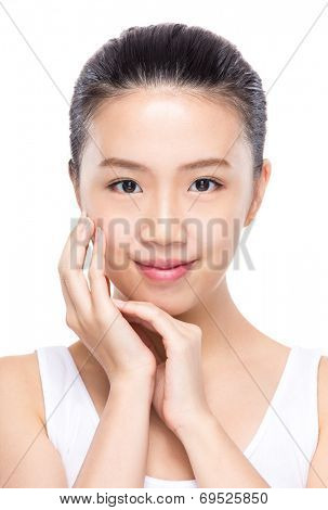Beautiful woman with prefect skin