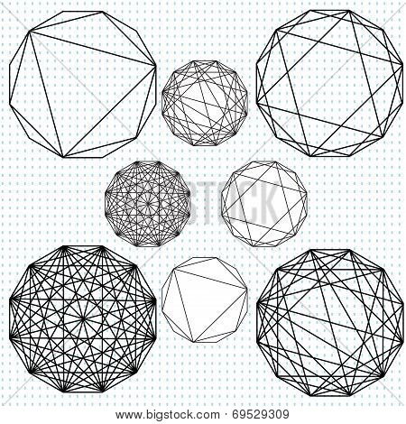 Geometric pattern drawings