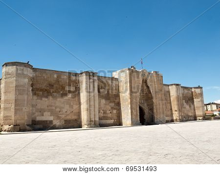 entrance to the Sultanhani caravansary on the Silk Road Turkey