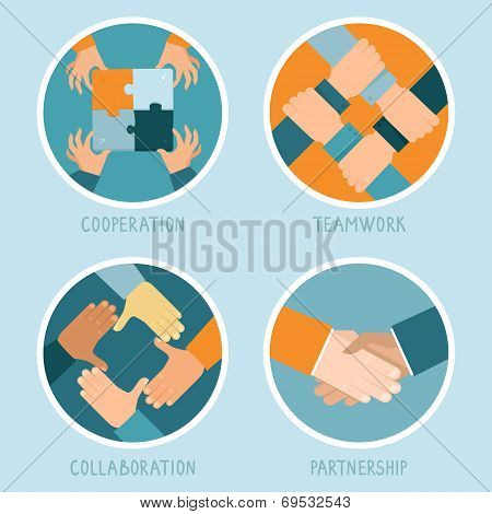 Vector Teamwork And Cooperation Concept