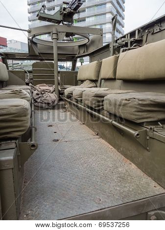 Inside The Back Of A Military Vehicle