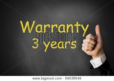 Thumbs Up Warranty Three Years