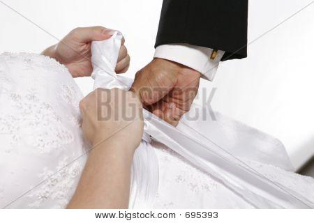 Bride Getting Dressed 2