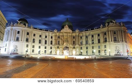 Imperial Palace Hofburg At Twilight - Vienna, Austria