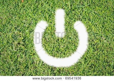 Green Turf Logo Power Switch On Off
