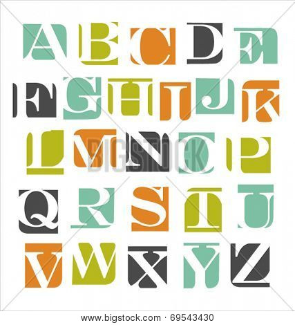 abstract modern vector letters alphabet