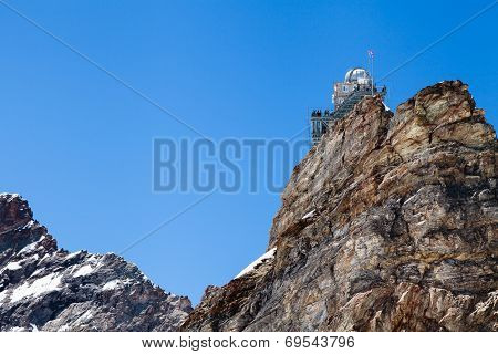 Sphinx High Altitude Observatory In Jungfraujoch Pass In Switzerland