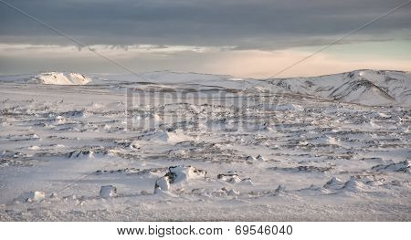 Snow Fields Of Iceland