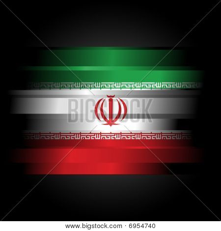 Abstract Iranian Flag On Black Background