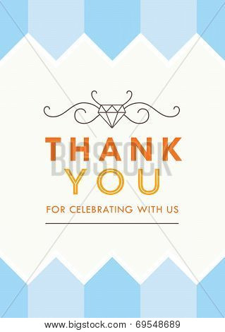 Thank you Card Blue Theme
