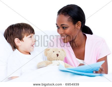Smiling Little Boy With His Doctor