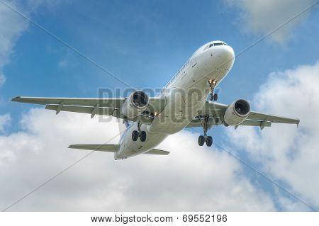 big jet plane taking off