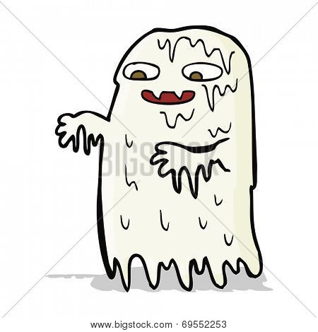 cartoon gross slime ghost