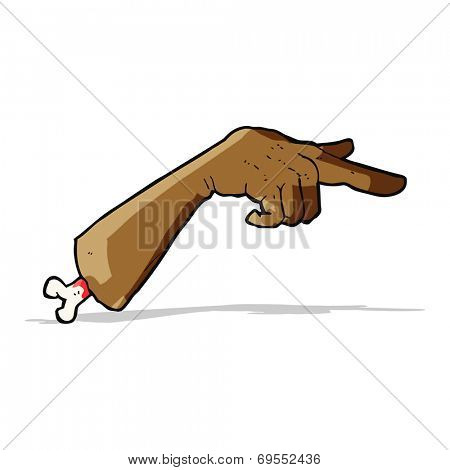 cartoon severed pointing hand