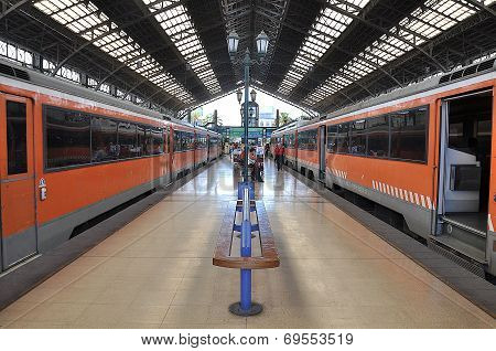 Electric trains.