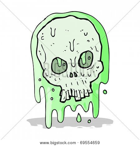cartoon slimy skull