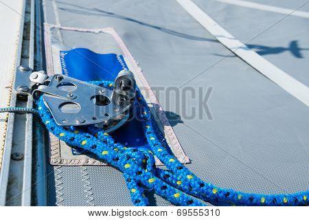 Detailed View Of A Catamaran Deck