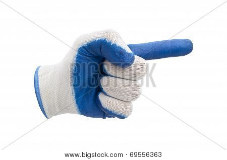 blue work gloves isolated