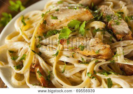 Homemade Fettucini Aflredo Pasta