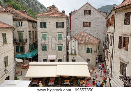 Kotor, Montenegro - July 9: Top View On Square Of Boka Fleet On July 9, 2014 in Kotor Montenegro