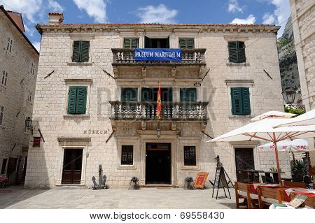 Kotor, Montenegro - July 14: Maritime Museum Of Montenegro On July 14, 2014 In Kotor, Montenegro