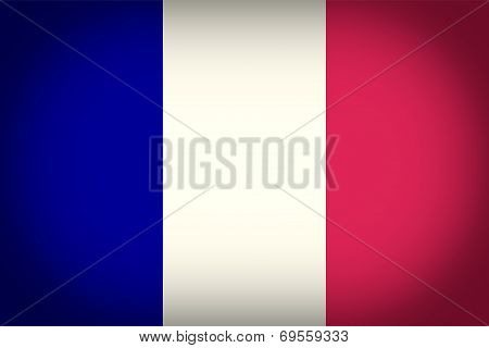 Retro Look French Flag