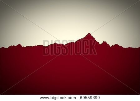 Retro Look Mountain