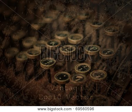 eps10 vector realistic vintage typewriter background