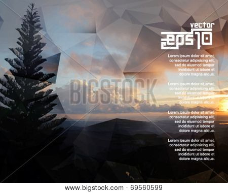 eps10 vector realistic sunrise background