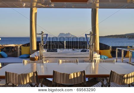 Rock of Gibraltar from Yacht.