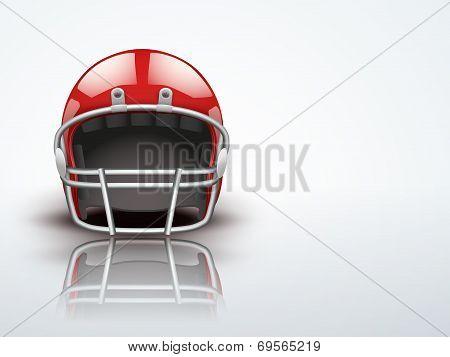 Light Background Realistic American football helmet