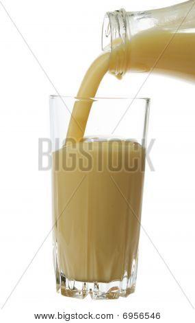 Pouring Drinkable Yogurt