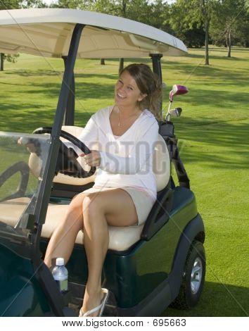 hübsches Mädchen golfer