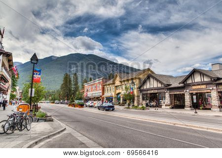 Townsite In Banff National Park, Canada
