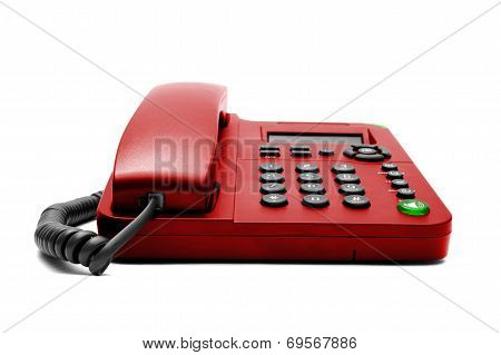 Red Ip Office Phone Isolated