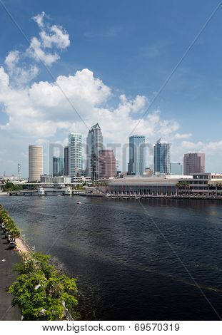 City Skyline Of Tampa Florida During The Day