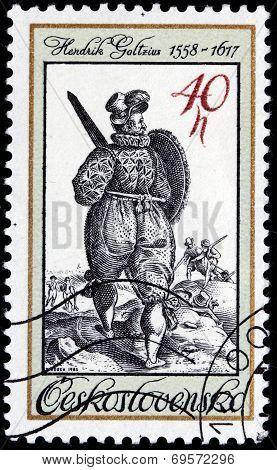 Old Engraving Stamp