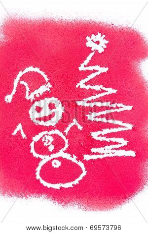 Christmas Greetings, Spray Painted