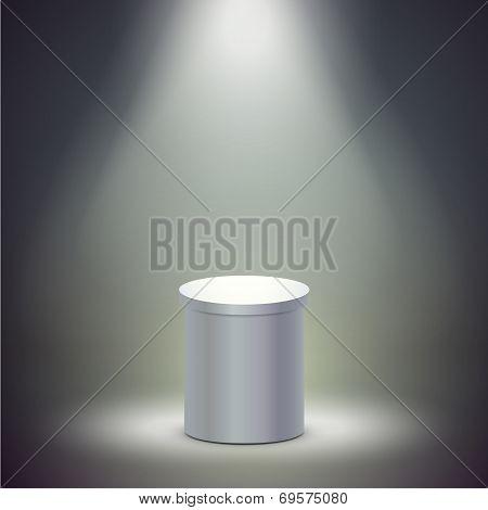 Blank Columnar Stage