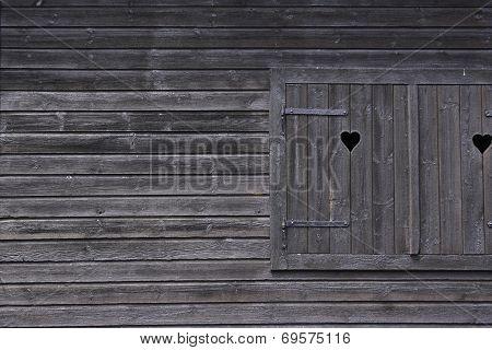 Black wooden window 2