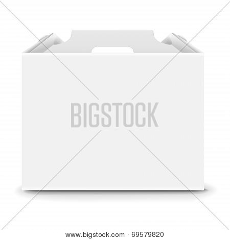 Blank Paper Packaging Bag With Handle